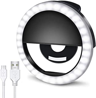 AUTOPkio Anillo de luz Selfie, 36 LED Light Ring USB Recargable Ajustable 3 Modos de Luz para Youtube, Tiktok, Teléfonos, ...