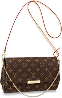 Lv women's leather bag FAVORITE medium handbag