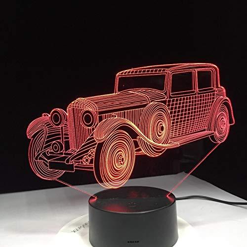 3D Ilusión Óptica Lámpara Led Luz Nocturna Camión De Coche Lámpara De Mesa De Noche Usb Para Infantil Dormitorio Decoración Regalo De Cumpleaños Para Niños 16 Colores Con Control Remoto