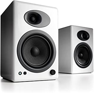 Audioengine A5+ Classic 150W Powered Bookshelf Speakers | Built-in Analog Amplifier | Remote Control | RCA and 3.5mm input...