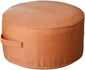 DNSJB Floor Sitting Cushion Footstool - Janpanese Round Seating Sofa Pouf Foot Leg Rest Step Stool Ottoman Pillow Chair Indoor Outdoor (Color : Orange, Size : 4020cm)