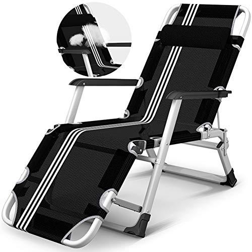 Chaises Pliantes Chaises Longues Fauteuils Fauteuil Inclinable Surdimensionné pour les Personnes À Usage Intensif, Chaises Pliantes pour le Patio de la Plage, Pied Réglable, Support 220 Kg