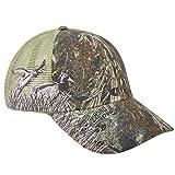 Unisex Hunting Fishing Cap 3D Mallard Embroidery Baseball Hat with Air Mesh Back