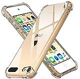 ivoler Funda para iPod Touch 7/6 (7th y 6th Generación), Carcasa Protectora Antigolpes Transparente con Cojín Esquina Parachoques, Flexible Suave TPU Silicona Caso Delgada Anti-Choques Case Cover