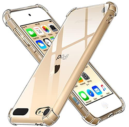 ivoler Hülle für Apple iPod Touch 7/6 (7. und 6. Generation) mit Stoßfest Schutzecken, Ultra Dünne Weiche Transparent Schutzhülle Flexible TPU Durchsichtige Handyhülle Kratzfest Case Cover