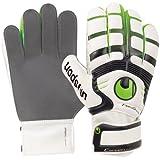 uhlsport - Guantes de fútbol, tamaño 7 UK, Color Blanco/Verde Flash/Negro