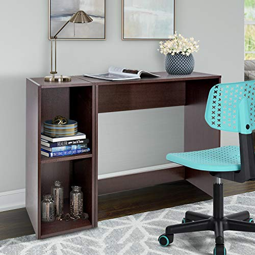 Homy Casa Inc PC Laptop Study Table for Home Office, Simple Style Writing, Wood Shelving computer...
