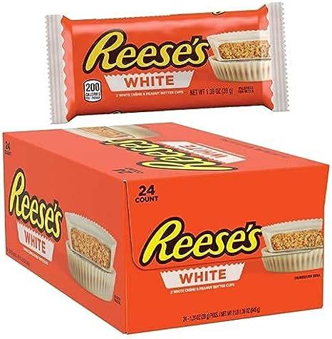 Peanut Butter Reese's Cup baño en chocolate blanco