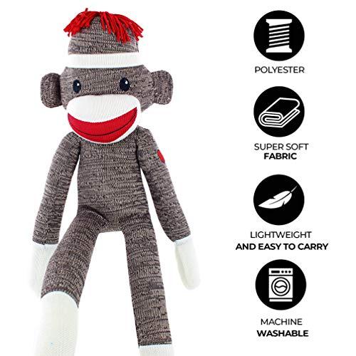 Plushland Sock Monkey (Brown)
