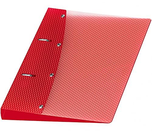 Veloflex 1151421 Diamond Classeur à 2 anneaux en plastique PP Rouge Format A5 20 mm