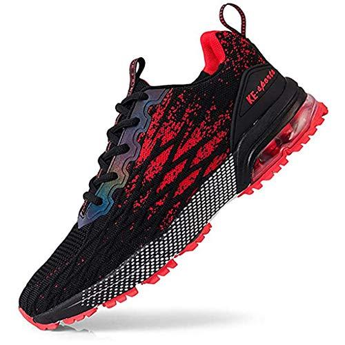 XIALIUXIA Air Amortiguación Zapatos Correr, Transpirables Ligero Aire Libre Running Sneakers Hombres Zapatos para Correr Gimnasio,C,39