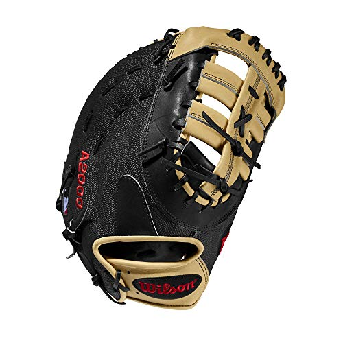 Wilson A2000 12.5-Inch SuperSkin Baseball Glove, Blonde/Black, Left (Right Hand Throw)
