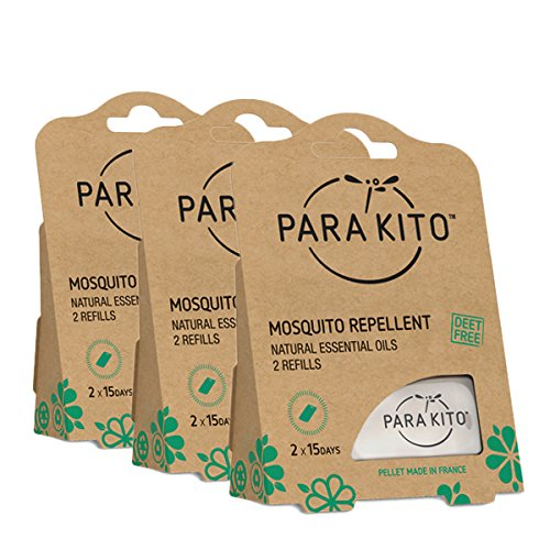 PARA'KITO Mosquito Repellent Multi-Pack - 3 x 2 Refills (15 Days Each)