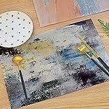Mantel Individual Abstracto De Pintura En Tinta, Tapete De Mesa De Graffiti Artístico, Almohadilla De Aislamiento Térmico Espesada Impermeable Y A Prueba De Aceite, Adecuado para Mesa De Comedor