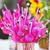 sukisuki 50pcs Flamingo pajitas de papel pajitas de c├│ctel fiesta suministros