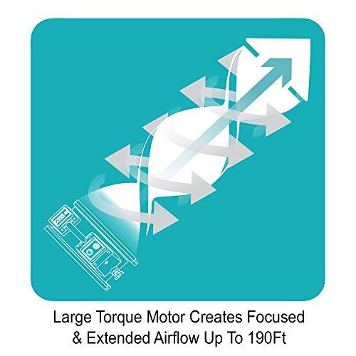 "XPOWER FC-420 Professional Grade Air Circulator with Sealed Motor, Carpet Dryer, Floor Blower- 18"" Diameter Heavy Duty Utility Fan - Blue"
