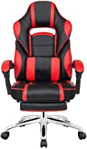 Danube Home Sparrow High Back Office Chair, Black/Red - 67 x 71-132 x 115-123 cm