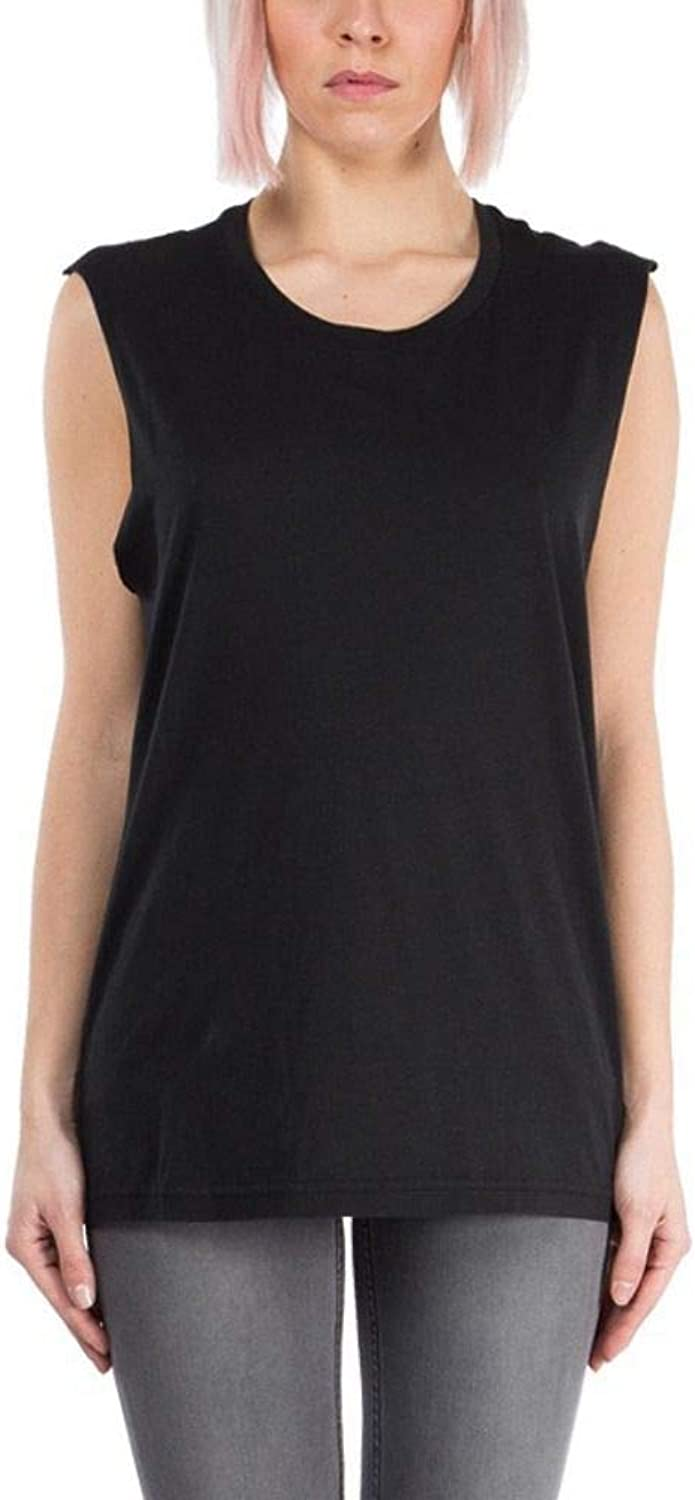 Blk Dnm Women's SMBD4404P65BLACK Black Cotton Tank Top