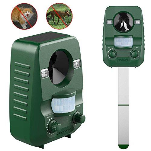 AngLink Repelente de Gatos, Repelente Ultrasónico para Animales, para Exterior, Resistente al Agua