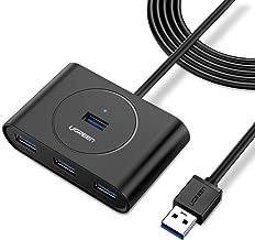 UGREEN Hub USB 3.0 Ladrón USB 3.0 4 Puertos 5Gbps para PC, Portátil, Raspberry pi 4, Macbook, PS4, Xbox, Memoria USB, Ratón, Teclado Compatible con Mac OS, Windows y Linux, con cable de 1M