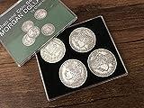 blue-ther Morgan Dollar Shell and Coin Set (5 Coin +1 Head Shell+1 Tail Shell) Magic Coin Magic Tricks Illusions Close up Fun