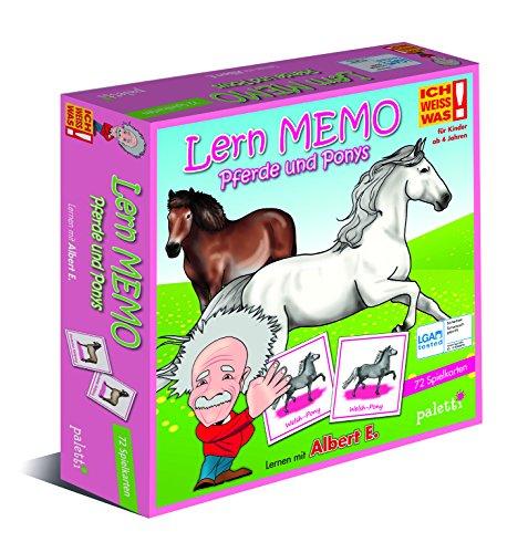 paletti Albert E. ICH Weiss was! Lern Memo - Pferde und Ponys Lernspiel