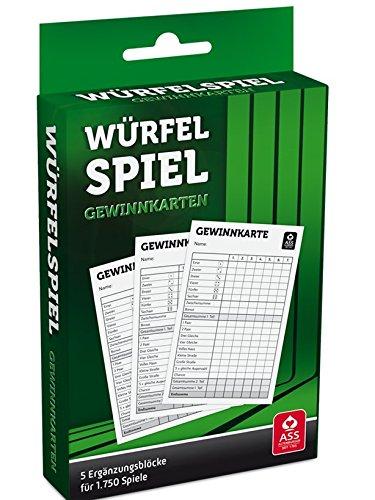 ASS Altenburger Spielkarten Würfelspiel Gewinnkarten 5er Block