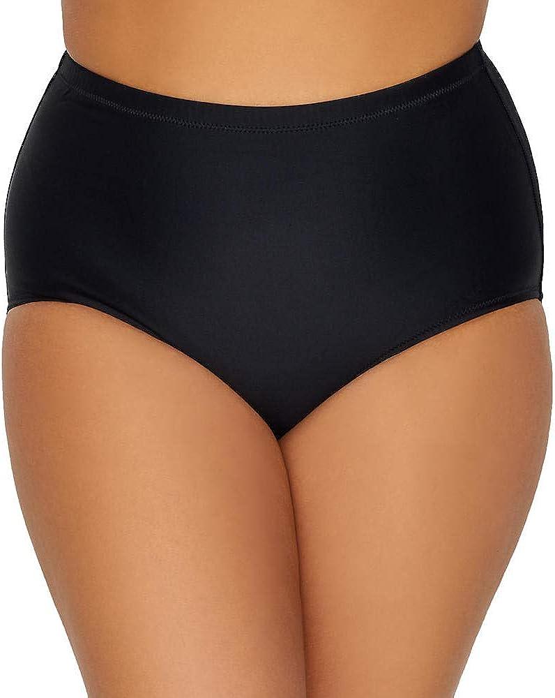 Raisins Curve Womens Plus Size Samba Solids Shoreline Bikini Bottom 14W Black