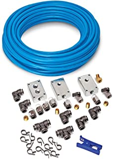 Eastwood Master Multiple Outlets Air Line Garage Kit Tubing Fittings Clapms