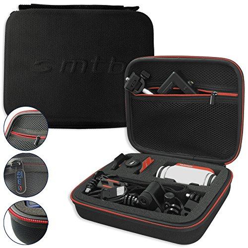 mtb more energy® Schutztasche XL für Garmin Virb Elite, X, XE/Contour Roam 3 / Ghost-S/Tomtom Bandit UVM. - Schwarz - Koffer Case Stecksystem Modular
