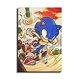 Pster de Sonic The Hedgehog en lienzo y arte de pared, diseo moderno de la familia, Sin marco, 12x16inch