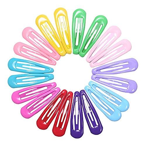 YNHNI Pin de Cheveux 20pcs 5cm Snap Pinces de Cheveux pour Les Cheveux Pinceaux Pinceaux BB Coupes de Cheveux Couleur Barrettes en métal pour bébé Enfants Femmes Femmes Girls Cyling Accessoires
