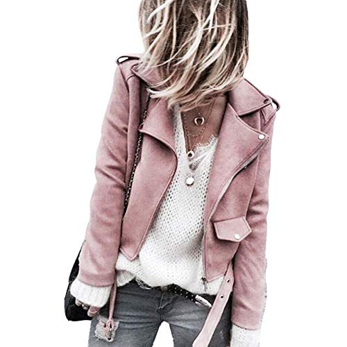 Eastway Femme Faux Veste en Cuir à Capuche Blousons Manteaux pour Le Printemps Automne et l'hiver
