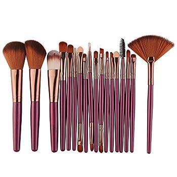 Clearance! Lmtime High-End 18 pcs Makeup Brush Set tools Make-up Toiletry Kit Wool Make Up Brush Set  Purple