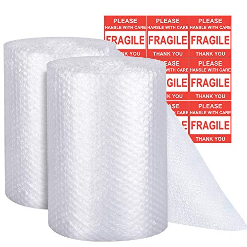 Bubble Cushioning Wrap - Bubble Cushioning Wrap for Moving with Perforated Every 12��, Easy to Tear, Small Bubble, Thicker & Durable for�Packing, Delivering & Moving (Total 12�� x70 Feet, 35�/Roll)