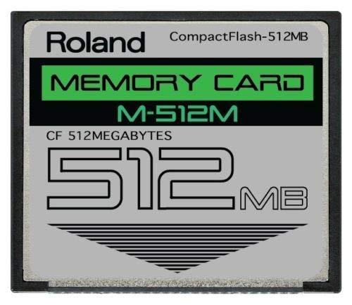 Roland - Tarjeta de Memoria CompactFlash CF (512 MB, M-512M, Compatible con SPD-S, SP-404, SP-555, SP-606, MC-808, G-70, TD-20, Fantom X y Otros)