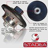 Stadea Diamond Profile Wheel Demi 3/8' for Grinder - B10 Radius Half Bullnose Router Bit for Granite Marble Stone Countertop Edges