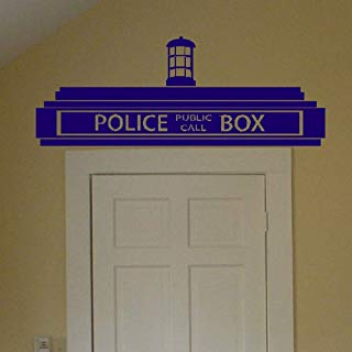Guduis Wall Stickers Vinyl Words Sayings Removable Lettering Creative Doctor Who Tardis Police Box, Transfer Sign Wall Sticker for Children/Kids Bedroom Decor