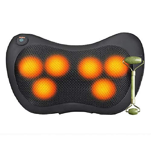 Massagegerät Shiatsu Massagekissen mit Wärmefunktion Elektrische Nackenmassagegerät 3D-rotierenden Massage für Nacken Schulter Rücken Muskel Entspannung, Haus Büro Auto Qukang888