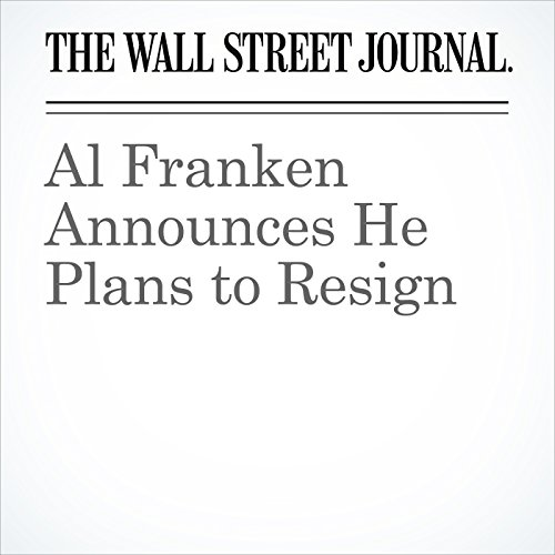 Al Franken Announces He Plans to Resign copertina