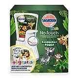 Sagrotan No-Touch Kids Automatischer Seifenspender – Inkl. Sagrotan Nachfüller Entdeckerpower Aloe Vera – 1 x 250 ml Flüssigseife