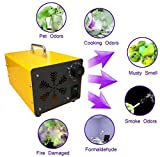 Generador De Ozono Portátil, O3 Purificadores De Aire De Ozono Purificador De Aire Esterilizador Máquina De Ozono + Acero Inoxidable, Para Hogar, Oficina, Barco, Automóvil, Hotel Y Granja,Amarillo