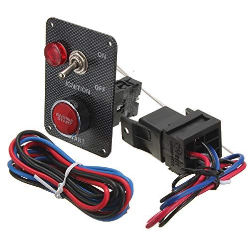 LICHONGUI Nuevo Kit de Interruptor de Encendido de Coche de Carreras de 12V Panel de embrolicador de Panel de Emergencia Motor de alterno pulsador