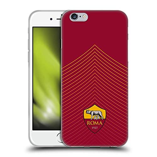 Head Case Designs Licenza Ufficiale AS Roma Modello Freccia Grafiche Cover in Morbido Gel Compatibile con Apple iPhone 6 / iPhone 6s