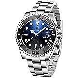 BERSIGAR Automatic Divers Watches Reloj analgico automtico para Hombre con Correa de Acero Inoxidable