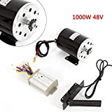 Gdrasuya10 Electric Motor Kit Powerful DC Engine Set Electric Speed Controller with Brush for Bike Bicycle Scooter Gokart 48V 1000V 3000rpm