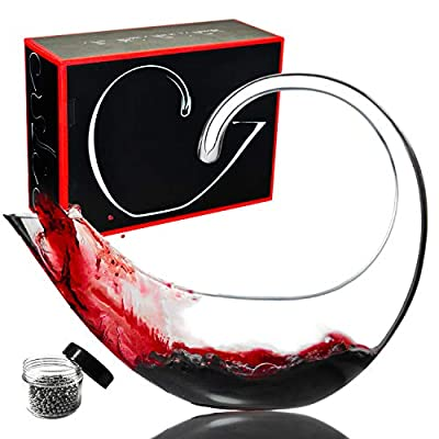 Le Sens Amazing Home Scorpion Wine Decanter 100% Hand Blown Lead-free Crystal Glass with Cleaning Beads, Red Wine Carafe, Wine Gift, Wine Accessories