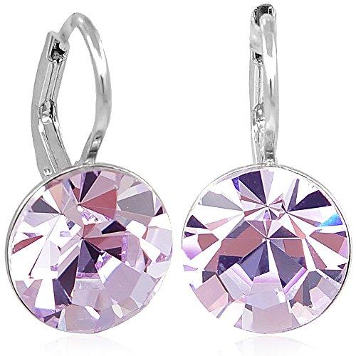 Ohrringe mit Kristallen von Swarovski® Silber Violet NOBEL SCHMUCK