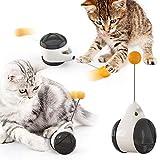 none/brand yisika giochi per gatti in casa,giocattoli bilanciati per gattini,giocattoli interattivi per gatti da interni giocattolo multifunzionale per gatti con piuma e palla