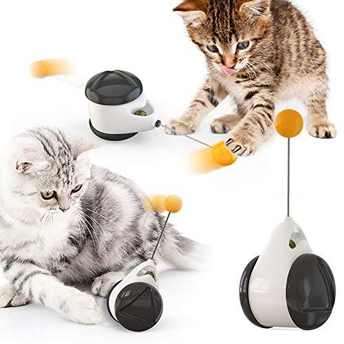 None/Brand Yisika Juguetes para Gatos Pequeños,Juguetes Equilibrados para Gatitos,Juguetes Interactivos para Gatos de Interior Juguete Multifunción para Gatos con Pluma y Bola